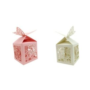 40pcs Wedding Party Butterfly Sweets Cake Candy Favour Favors Gift Boxes