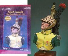q Andrea Miniatures 1/10 - Busto Ufficiale Dragoni Francesi di Linea (1812)