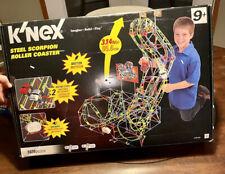 K'NEX Steel Scorpion Roller Coaster 2-Racing Cars (98% complete + Xtra Pcs)