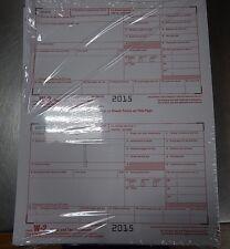 2015 10 EMPLOYEE ADAMS W-2  W2 KIT 6-PART IRS TAX FORMS LASER INKJET + ENVELOPES