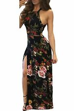 Abito aderente stampato Floreale Spacco Cerimonia Party Cocktail Floral Dress S