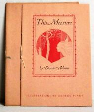 This Measure: Leonie Adams (Borzoi Chap Book #7)