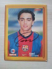 Xavi Hernandez + FC Barcelona + AUTOGRAMMKARTE + original AUTOGRAMM 1998/99