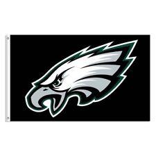 Nfl Philadelphia Eagles 3 X 5 Foot Deluxe Flag / Banner & Indoor / Outdoor Black
