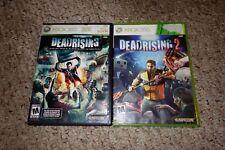Deadrising 1 & 2 (Microsoft Xbox 360) Complete Dead Rising Set Lot Both