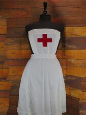 Vintage Red Cross Nurse Bib Aprons - Various Sizes - Military Nurse - White