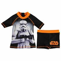 Boys Disney Star Wars Swimming Top and Trunks Set ages 2 through to 13 BNWT