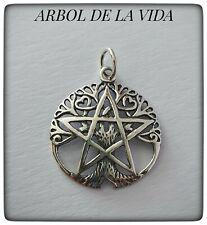 ARBOL DE LA VIDA WICCA PLATA DE LEY 925 ml ,TREE OF LIFE SILVER,COLGANTE ÁRBOL