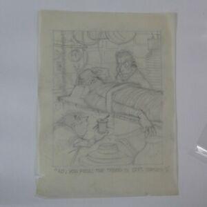 AL KILGORE pencil drawing 8 x 10 FLOOR COVERING WEEKLY Magazine Cartoon AKd432