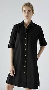 BNWT TRENERY CR Dress [16 XL] women's BLACK COTTON SHIRT DRESS FREE EXPRESS POST