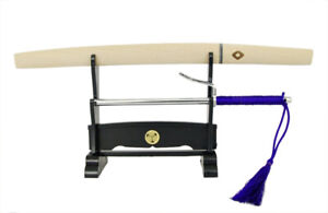 Miniature Letter Opener - Shirasaya sword and Jitte set with stand