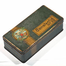 Antique Tobacco Cigarettes Tin Greek Constantin No 30 Hannover Germany Rare Old