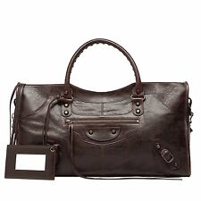 BALENCIAGA Arena Classic Part Time Bag in Cigare Fonce Dark Brown Leather