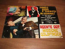 FOTOBUSTA,AGENTE 007 MISSIONE GOLDFINGER,SEAN CONNERY,J.BOND,Fröbe,FLEMING