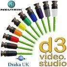 New 12G UHD SDI Draka Pro 50 Digital Video & Neutrik UHD Rear Twist BNC Cable