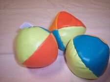 3 Multicolored Juggling Balls, 2 inch Diameter