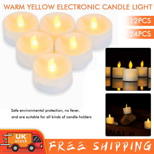 LED Flameless Candle Battery Operated Tea Light Flickering Celebrate Valentine