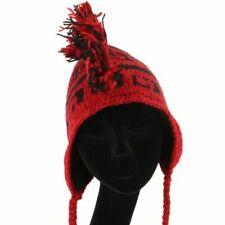 Mohawk Punk Sombrero Lana Festival Orejeras Gorro Polar Punto Rojo Negro Nuevo