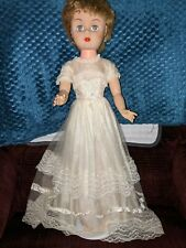 """23 """" Ae All Original Hard Plastic Vintage Bride Doll Great Coloring With Shoes"""