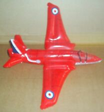 INFLATABLE RED ARROWS HAWK JET PLANE ROYAL AIRFORCE BLOW TO INFLATE TOY FUN