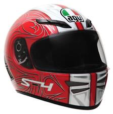 AGV S4 S-4 Full Face Street Motorcycle Helmet New Line Red Silver XSmall XS