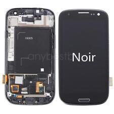 Vitre tactile Noir et écran LCD assemblés sur chassis pr Samsung Galaxy S3 i9305