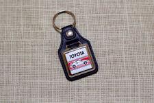 Toyota Paseo Keyring - Leatherette & Chrome Keytag