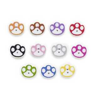 50pcs Hole Paw Wood Buttons for Sewing Scrapbooking Cloth Home Making Decor 16mm