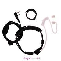 2 Pin Covert Acoustic Tube Earpiece Headset PTT Throat MIC for Baofeng UV5R