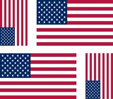 4 x flag decals sticker USA american united states  car vinyl helmet motorcycle