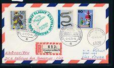 12381) R-Papier 6 FRANKFURT AM MAIN 75, aéroport, LH FF 2.1.72 > Linz