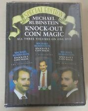 New Sealed  Knockout Coin Magic - Michael Rubinstein DVD - 3 Volume Set in 1 DVD