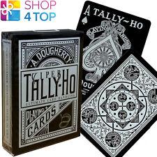 ELLUSIONIST TALLY HO VIPER FAN BLACK PLAYING CARDS DECK MAGIC TRICKS USPCC NEW