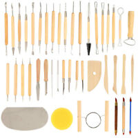 42pcs DIY Wood Polymer Pottery Clay Sculpting Carving Tool Modelling Craft Set