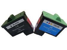 Ink Cartridge For Lexmark 16/26 use in Dell A920 720 Printers -Black+Tri-Color