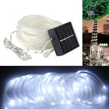 5M 50 LED Solar Power Rope Tube Lights Strip Light Sensor Outdoor Garden Party