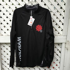 NWT North End Wolfram Zippered Neck Shirt Men's XL Black 100% Polyester