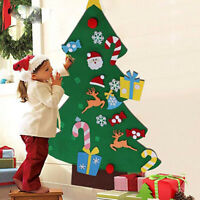 DIY Felt Christmas Tree Ornaments Xmas 3D Gift Wall Hanging Decor Children Kids
