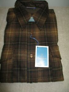 VTG PENDLETON Men's Long Sleeve 100% Virgin Wool Shirt Size 16. NEW