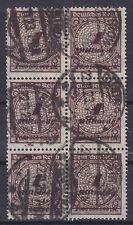 DR MI Nr. 325 W a 6er Block, geprüft Infla, rund gest. Güstrow 22.11.1923, used
