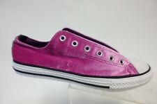 CONVERSE All-Star Low Pink Sz 6 Girls Low Velvet Skate Shoes