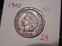 1903 INDIAN HEAD CENT AU NICE ATTRACTIVE COIN COMBINED SHIPPING