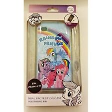 My Little Pony Rainbow Friends iPhone 4/4S Case Cover Blue Fitted Brand New 4E