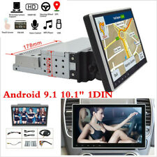 """Touc Screen 10.1"""" 1Din Android 9.1 HD Car Stereo GPS DVR MP5 WiFi Mirror Link BT"""