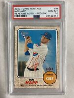 2017 Topps Heritage Ian Happ Real One Auto Red Ink 53/68 #IH PSA 10 Gem Mint