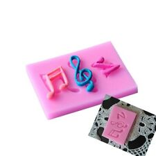 3D Silicone Mold Music Note For Cake Biscuits Hand-baked DIY Series Baking cv1