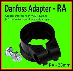 ⭐️ 💯%1x Adapter RA - 23mm Danfoss auf Standard Thermostat M30x1,5 Heimeier usw