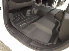 Wade Floor Mats Grey for a Chevy Silverado 1500 Crew Cab 2014 - 2016 2nd row