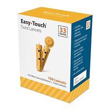 Easy Touch Lancets 33G 100 CT FREEEEEEEEEEEEEEEEEE SHIPPINGGGGGGG