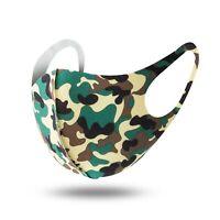Mundschutz Behelf-Mund-Nasen-Atem-Schutz Maske Waschbar Camouflage Army